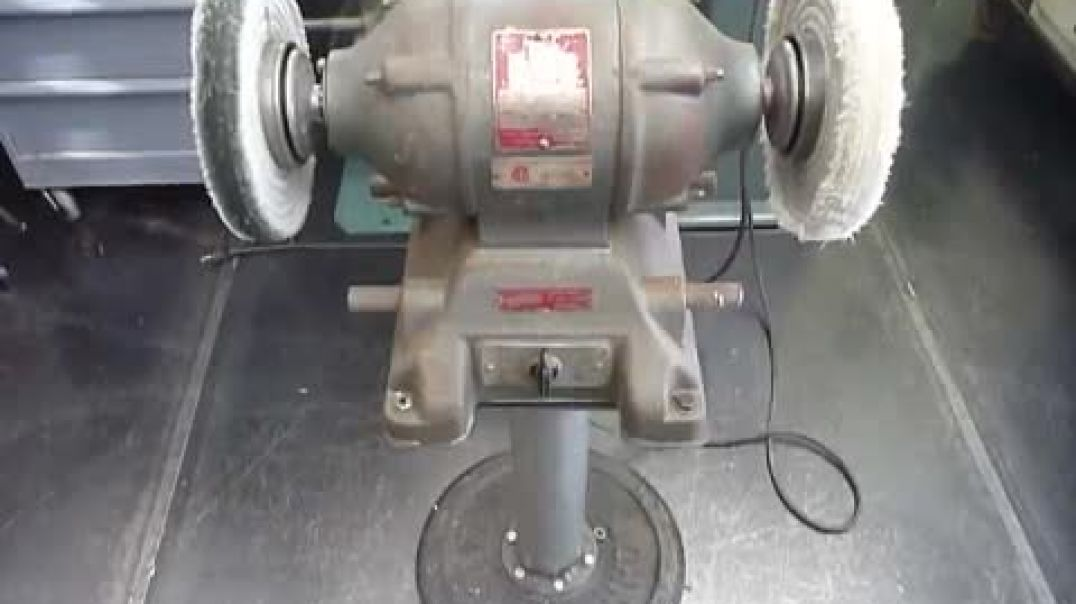 Vintage Reversible Bench Grinder Flamingsteel