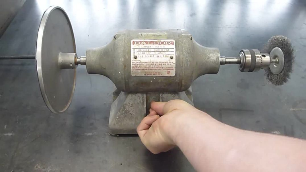 Vintage Baldor Bench Grinder Flamingsteel