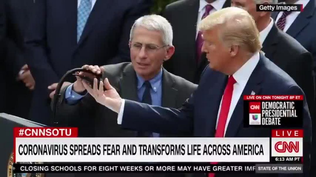 TONY FAUCI - I HAVE NO SYMPTOMS, THERE IS NO REASON FOR ME TO TAKE A TEST (MARCH 15, 2020)