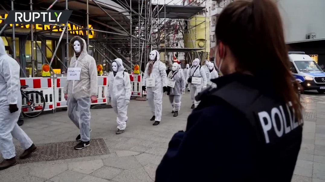 Ghost march _ German coronavirus skeptics protest COVID measures