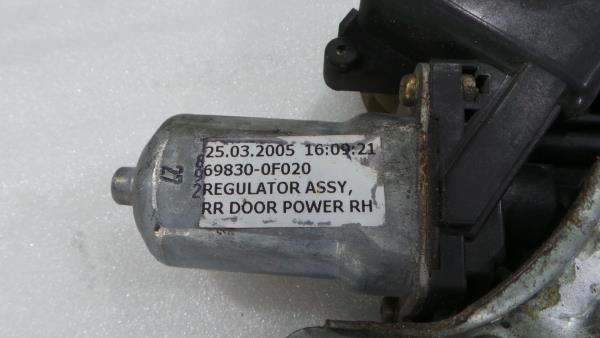 Elevador Trás Direito Electrico TOYOTA COROLLA Verso (ZER_, ZZE12_, R1_) | 04 - 09