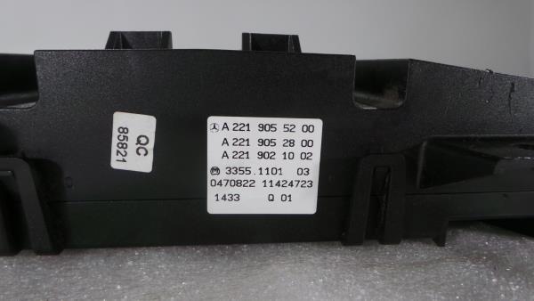 Comando Sofagem / Climatronic MERCEDES-BENZ S-CLASS (W221) | 05 - 13