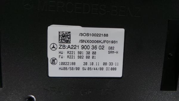 Caixa Fusiveis   SAM   Module MERCEDES-BENZ S-CLASS (W221)   05 - 13