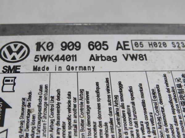 Centralina do Airbag VOLKSWAGEN SCIROCCO (137, 138) | 08 - 17