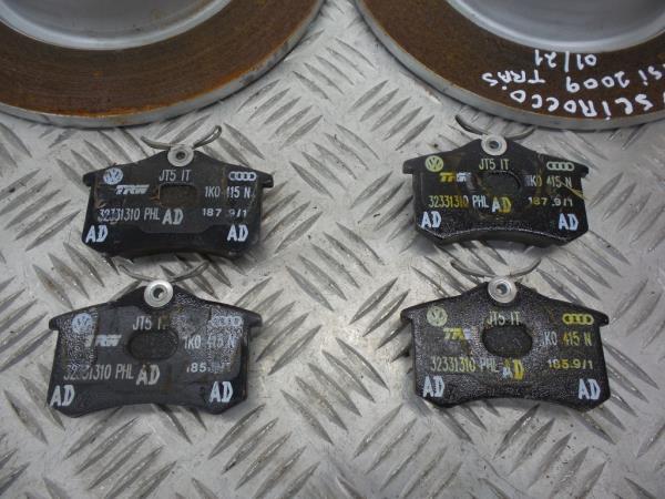 Discos Travão com Calços VOLKSWAGEN SCIROCCO (137, 138)   08 - 17