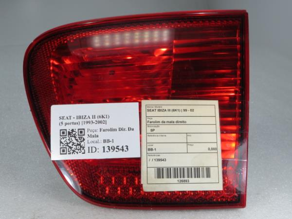 Farolim da mala direito SEAT IBIZA III (6K1) | 99 - 02