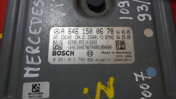 Centralina do Motor   ECU MERCEDES-BENZ VITO / MIXTO Caixa (W639)   03 -
