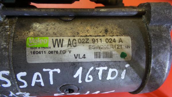 Motor de Arranque VOLKSWAGEN PASSAT (362) | 10 - 15