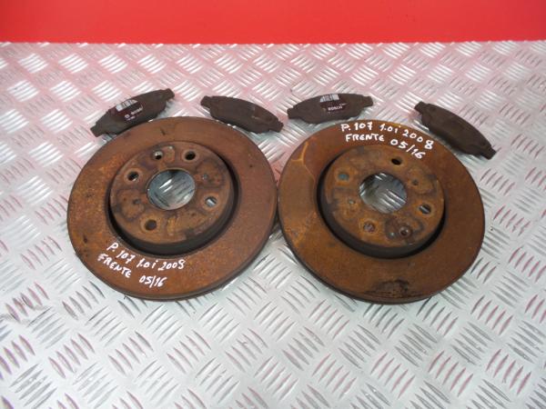 Discos Travão com Calços PEUGEOT 107 (PM_, PN_)   05 - 14