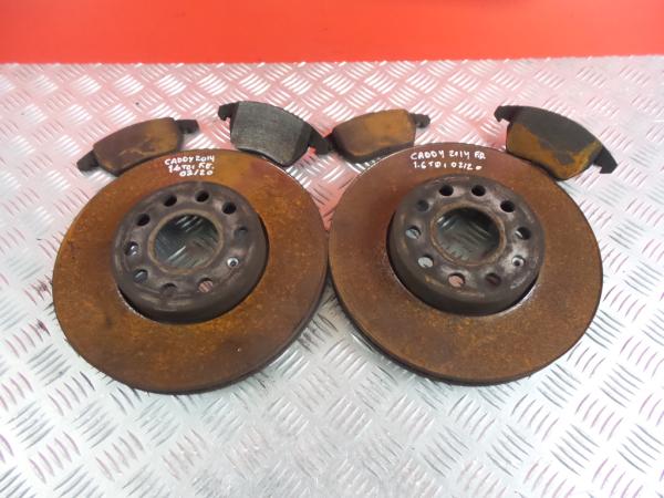 Discos Travão com Calços VOLKSWAGEN CADDY III Caixa (2KA, 2KH, 2CA, 2CH) | 04 - 15