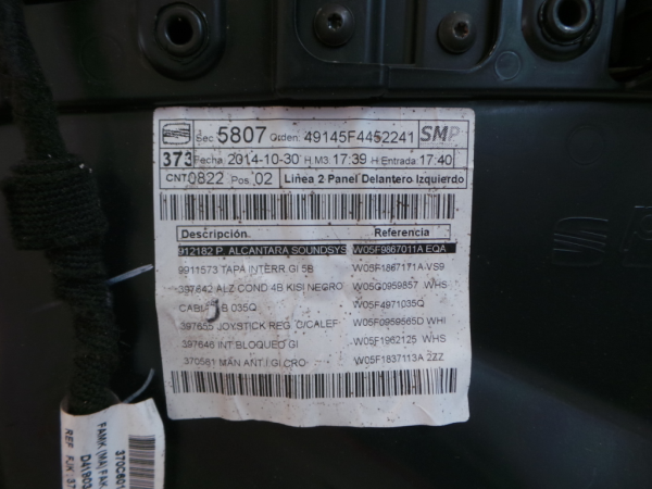 Quartela Frt Esq SEAT LEON ST (5F8) | 12 -