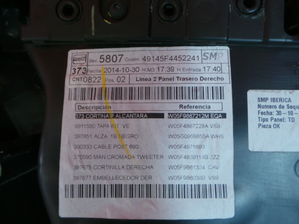 Quartela Trs Drt SEAT LEON ST (5F8)   12 -