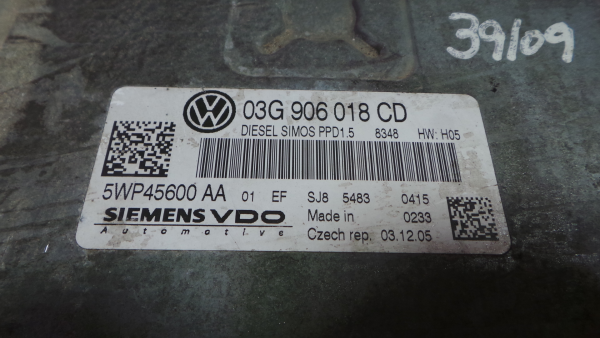 Centralina do Motor | ECU VOLKSWAGEN PASSAT (3C2) | 05 - 10