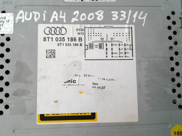 Auto-rádio (CD) AUDI A4 (8K2, B8) | 07 - 15