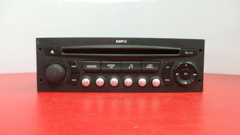 Auto-rádio (CD) CITROEN C4 Picasso I Veículo multiuso (UD_) | 06 - 15
