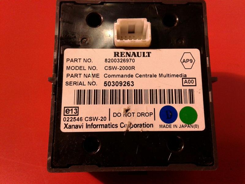 Controle de Navegacao RENAULT LAGUNA II (BG0/1_) | 01 - 07