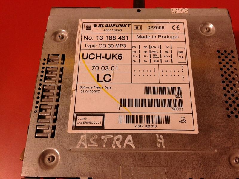Auto-rádio (CD) OPEL ASTRA H (A04) | 04 - 14