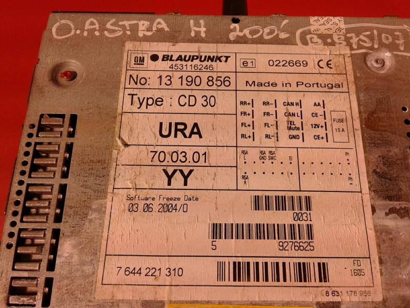 Auto-rádio (CD) OPEL ASTRA H (A04)   04 - 14