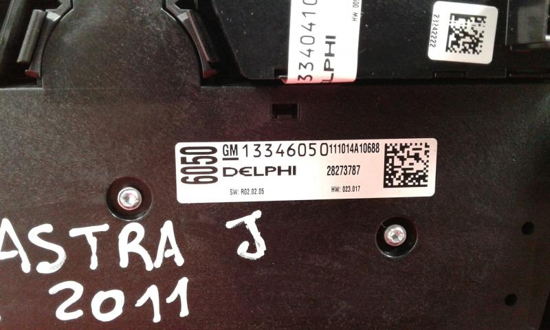 Painel de Controle do Radio OPEL ASTRA J GTC   11 -