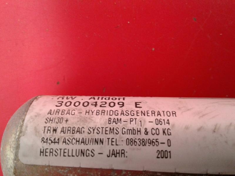 Airbag Cortina Esquerdo MERCEDES-BENZ C-CLASS (W203)   00 - 07