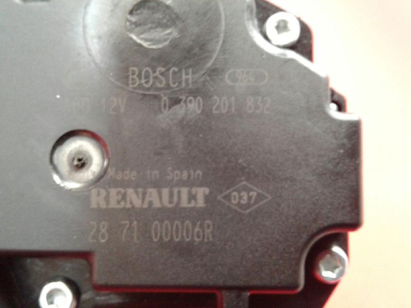 Motor Limpa Vidros Tras RENAULT LAGUNA III (BT0/1) | 07 - 15