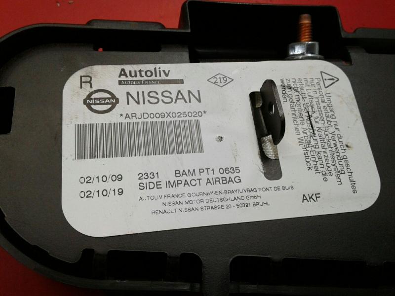 Airbag Banco Frente Direito NISSAN QASHQAI / QASHQAI +2 I (J10, NJ10, JJ10E) | 06 - 14