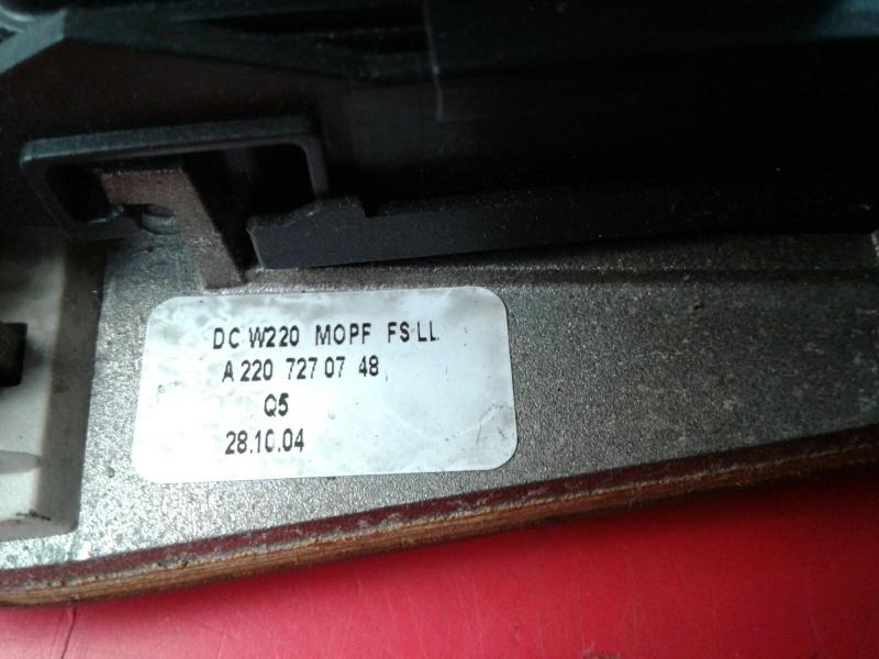 Comutador Vidro Frt Esq MERCEDES-BENZ S-CLASS (W220)   98 - 05