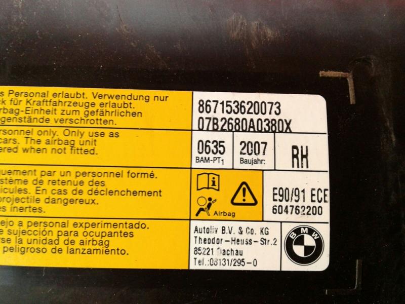 Airbag Banco Frente Direito BMW 3 (E90) | 04 - 12