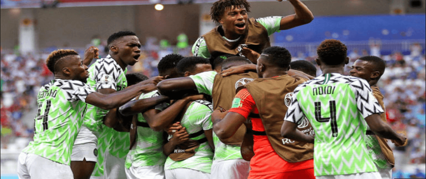 Nigeria wins over Iceland / FIFA World Cup 2018