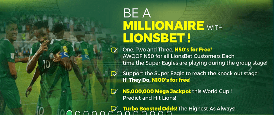 LIONS BET - Free money this World Cup