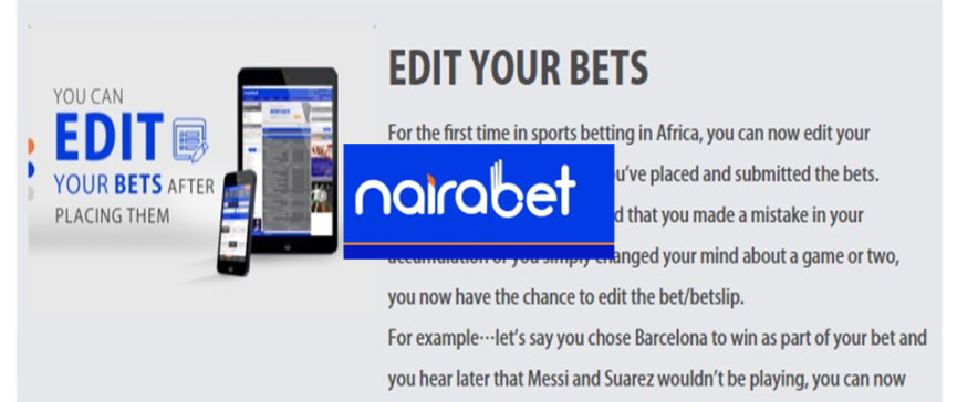 Nairabet Edit Your Bets