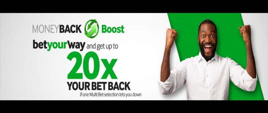 Grab Money Back Boost at Betway on Accumulator Bets