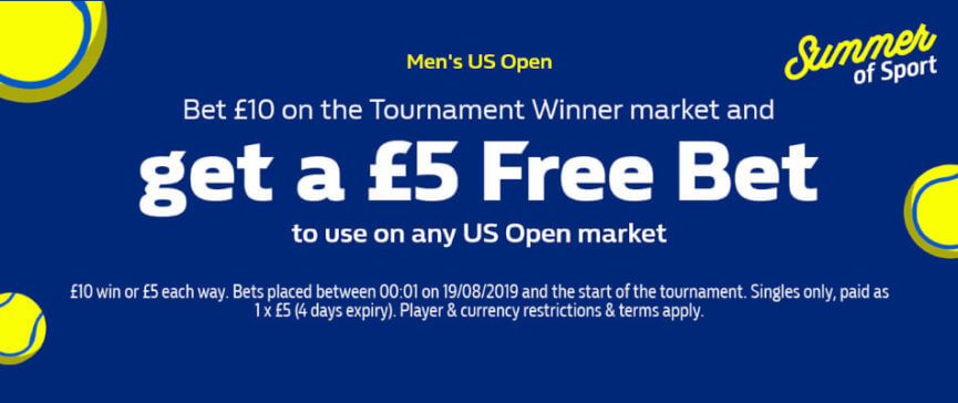William Hill 2019 US Open promotion