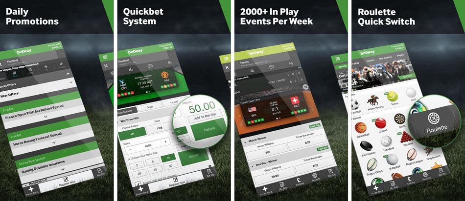 betway mobile betting app