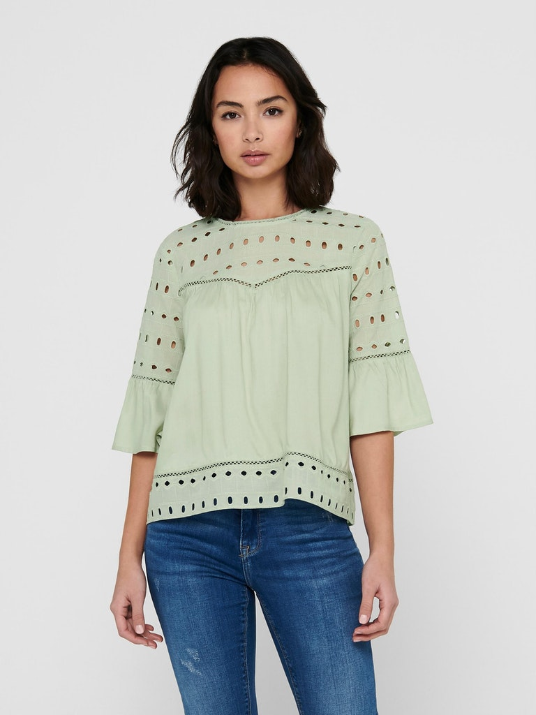 ONLY - BLUSE IRINA EMB ANGLAISE
