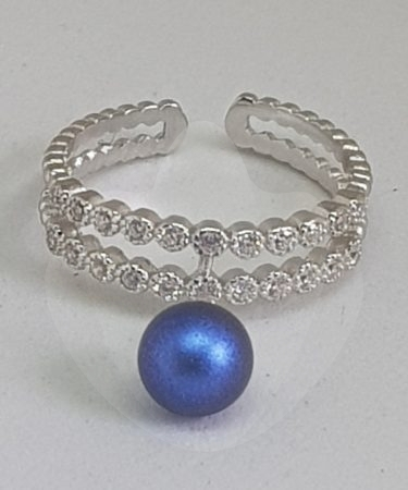 DOUBLE SPARKLE BAND RING-0