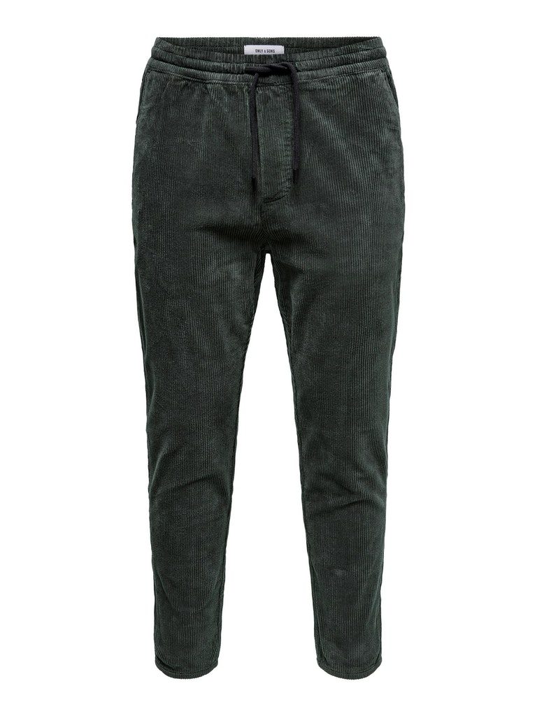Lässige Cropped Cord Pant