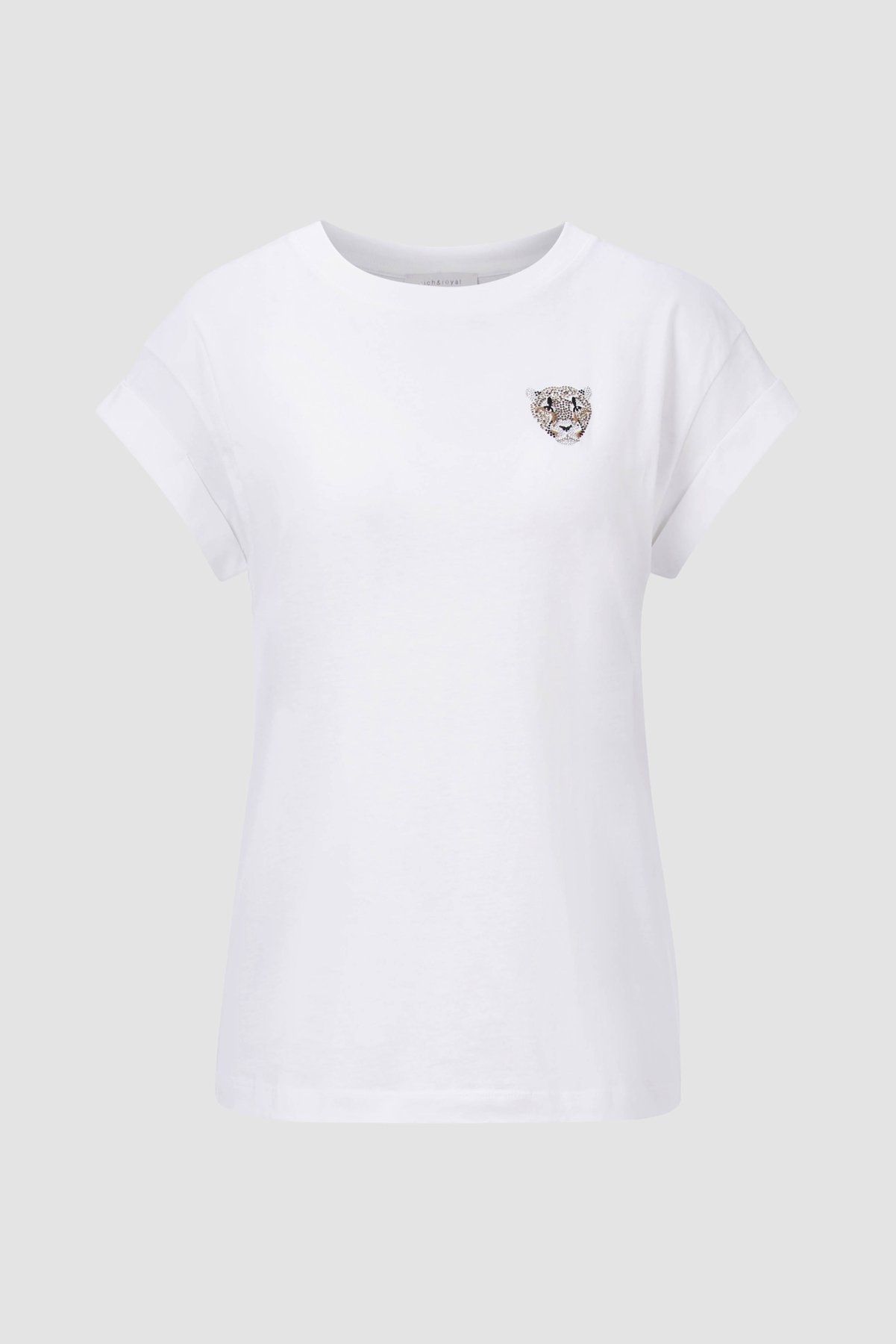 T-Shirt aus Bio-Baumwolle mit Glitzermotiv