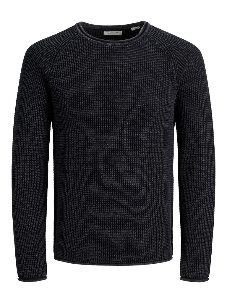 Washed Crew Neck Knit