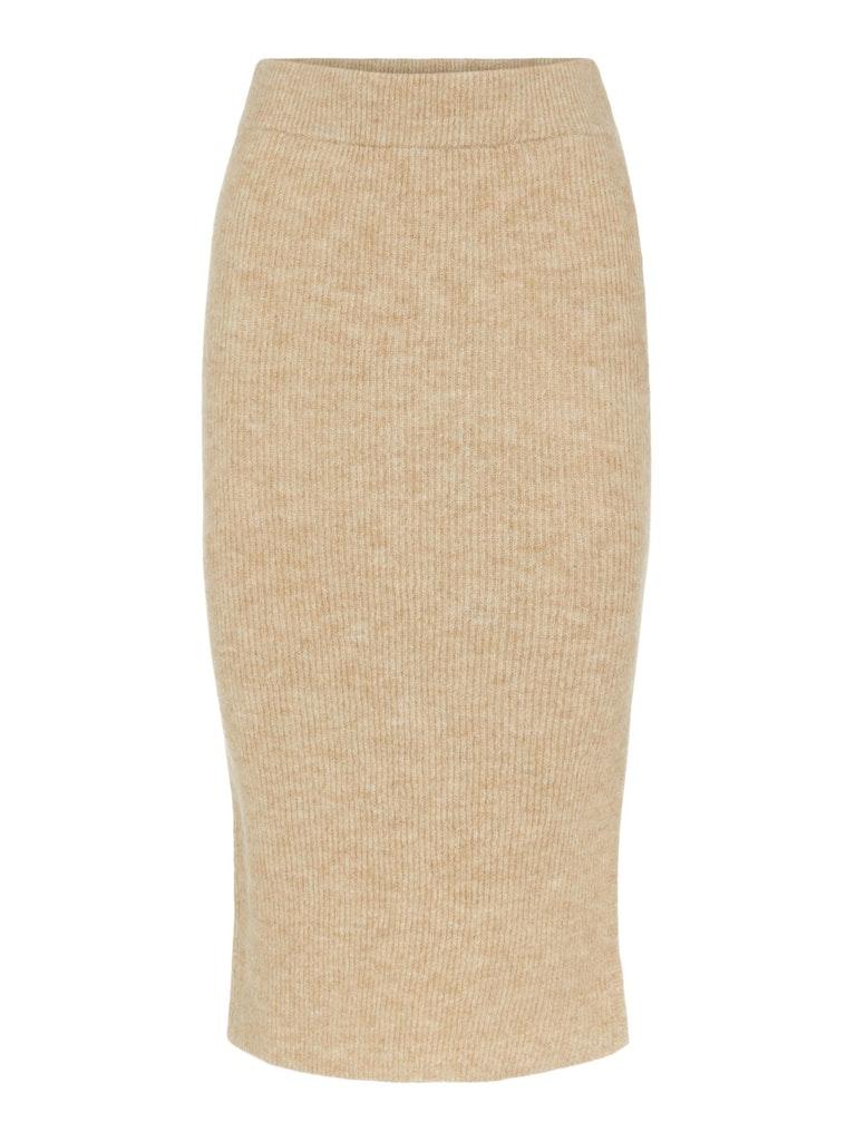 High Waist Midi Knit Skirt