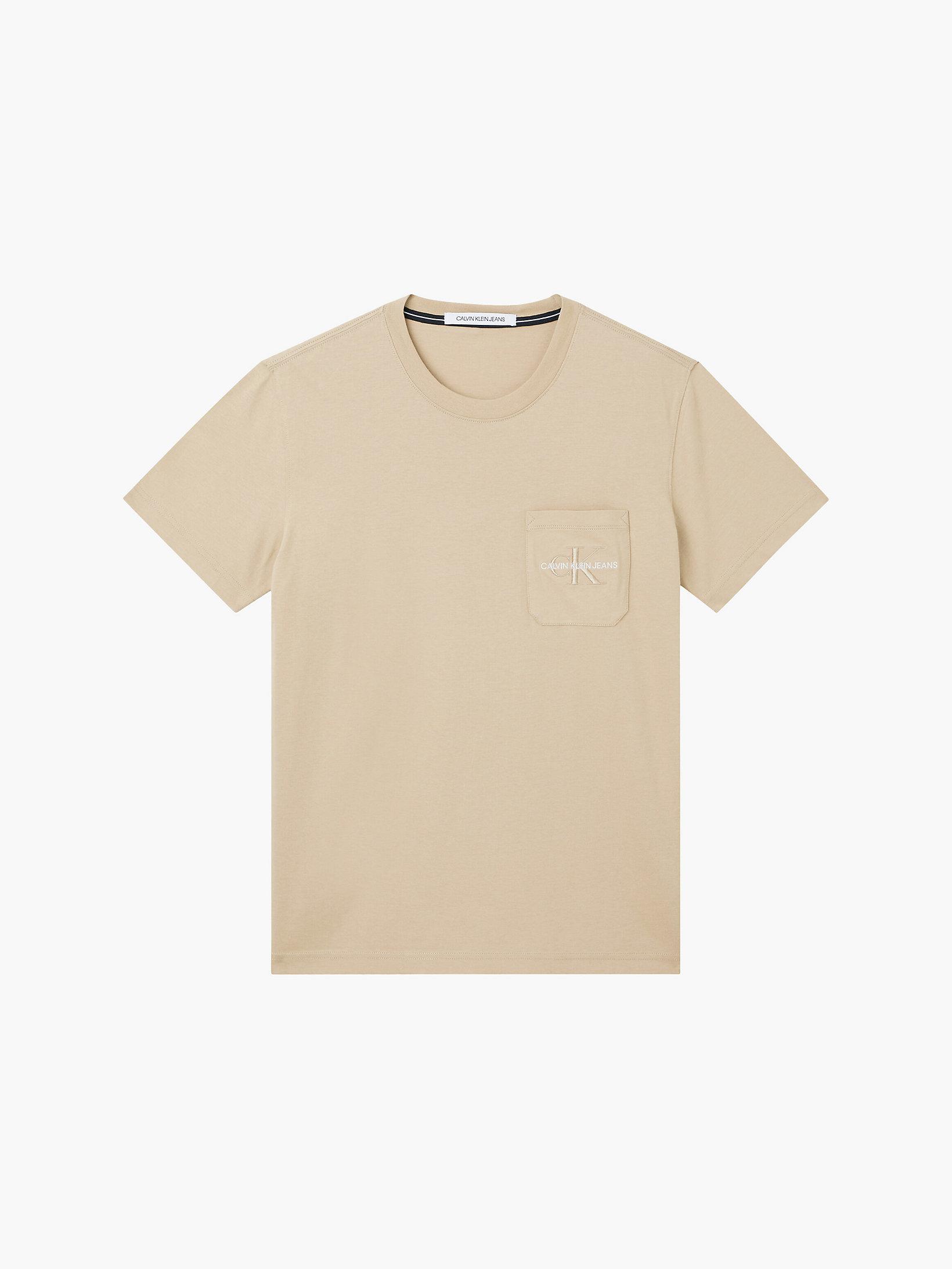 T-Shirt aus Bio-Baumwolle mit Logo Tasche