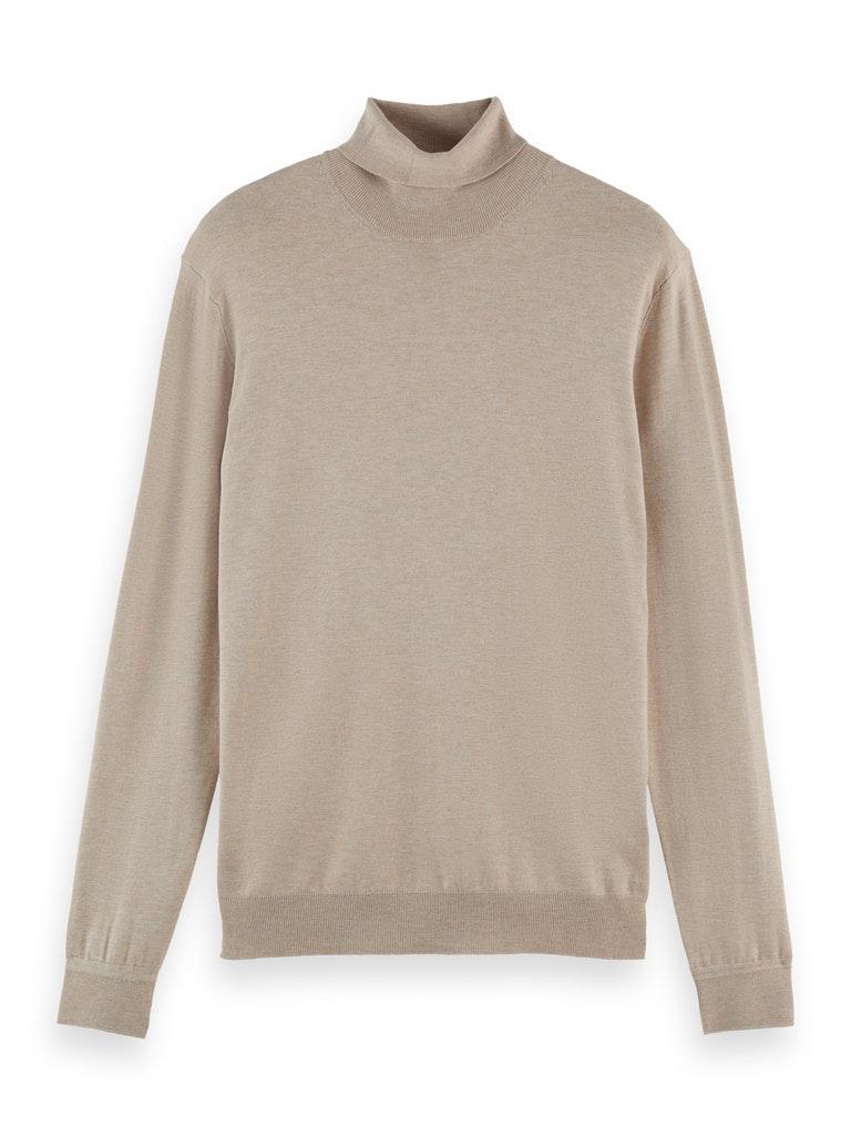 Melange Roll-Neck Pullover aus Viskose