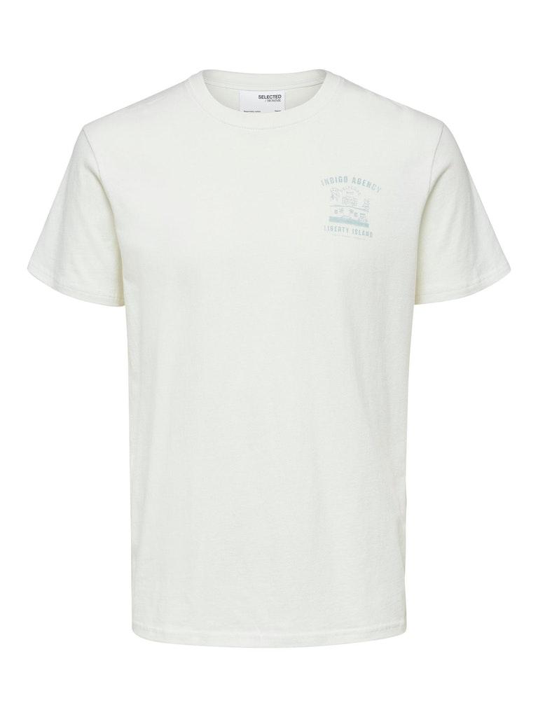 T-Shirt mit Jeans-Artwork aus Bio-Baumwolle