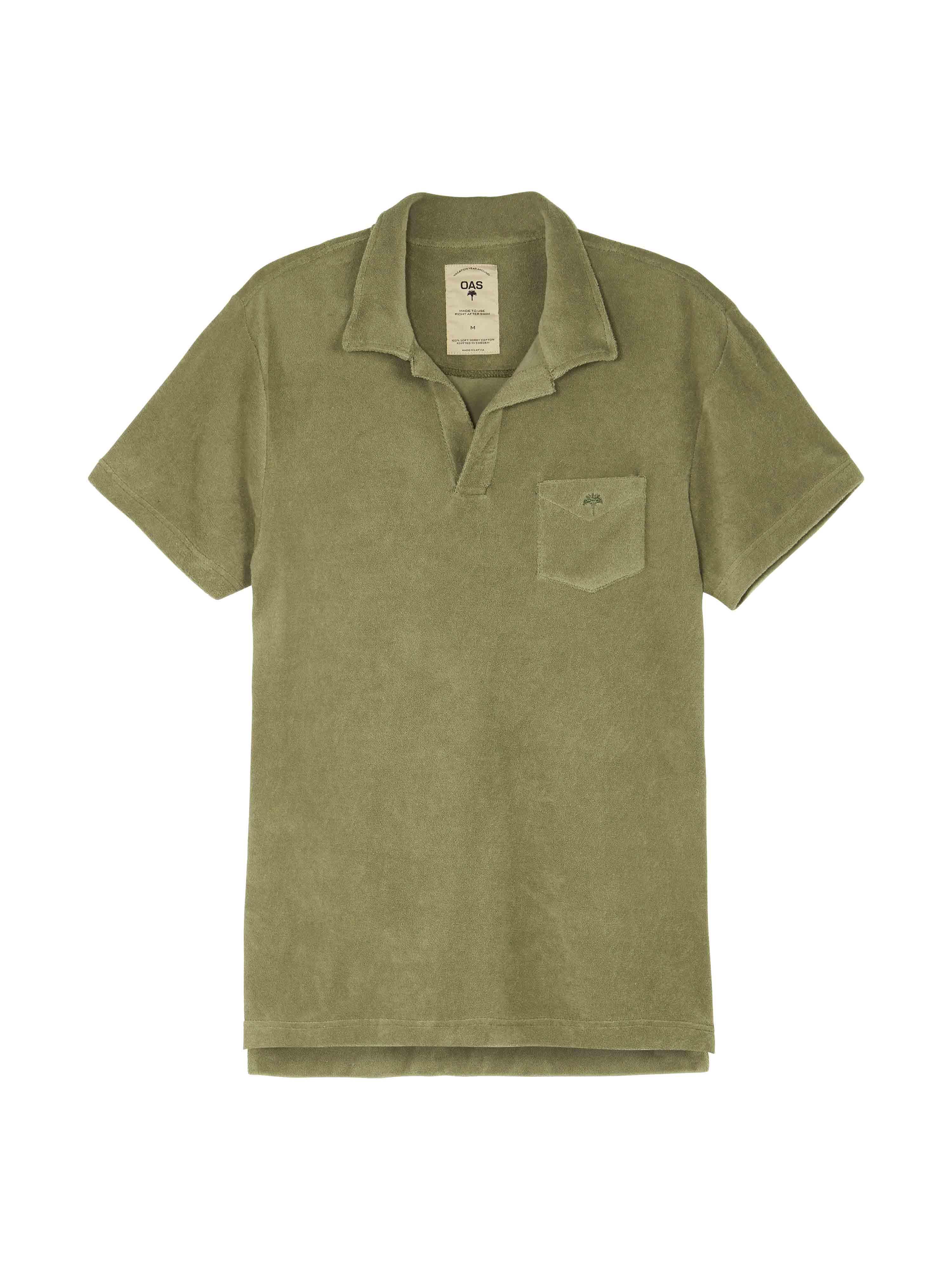 Solid Khaki Terry Shirt