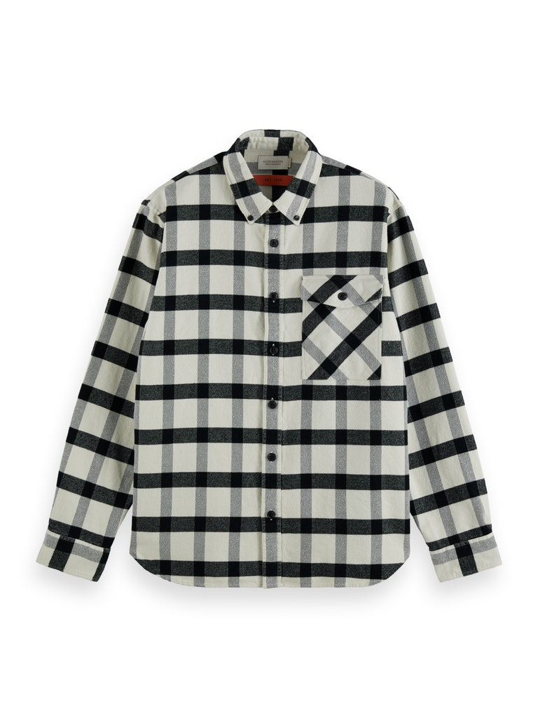 Checked Brushed Twill Shirt
