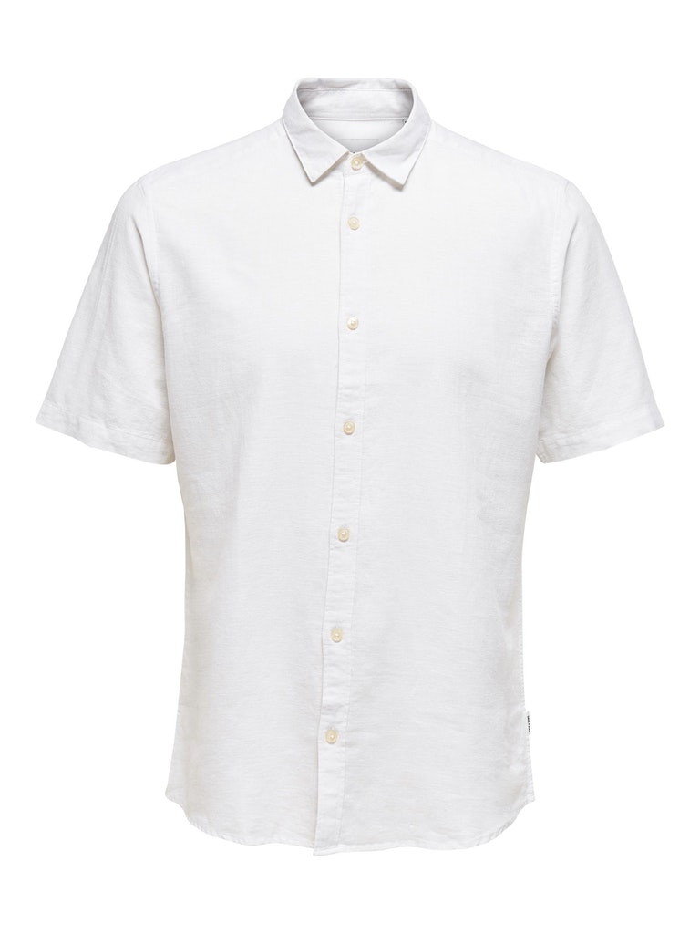 Kurzärmeliges Leinen Hemd