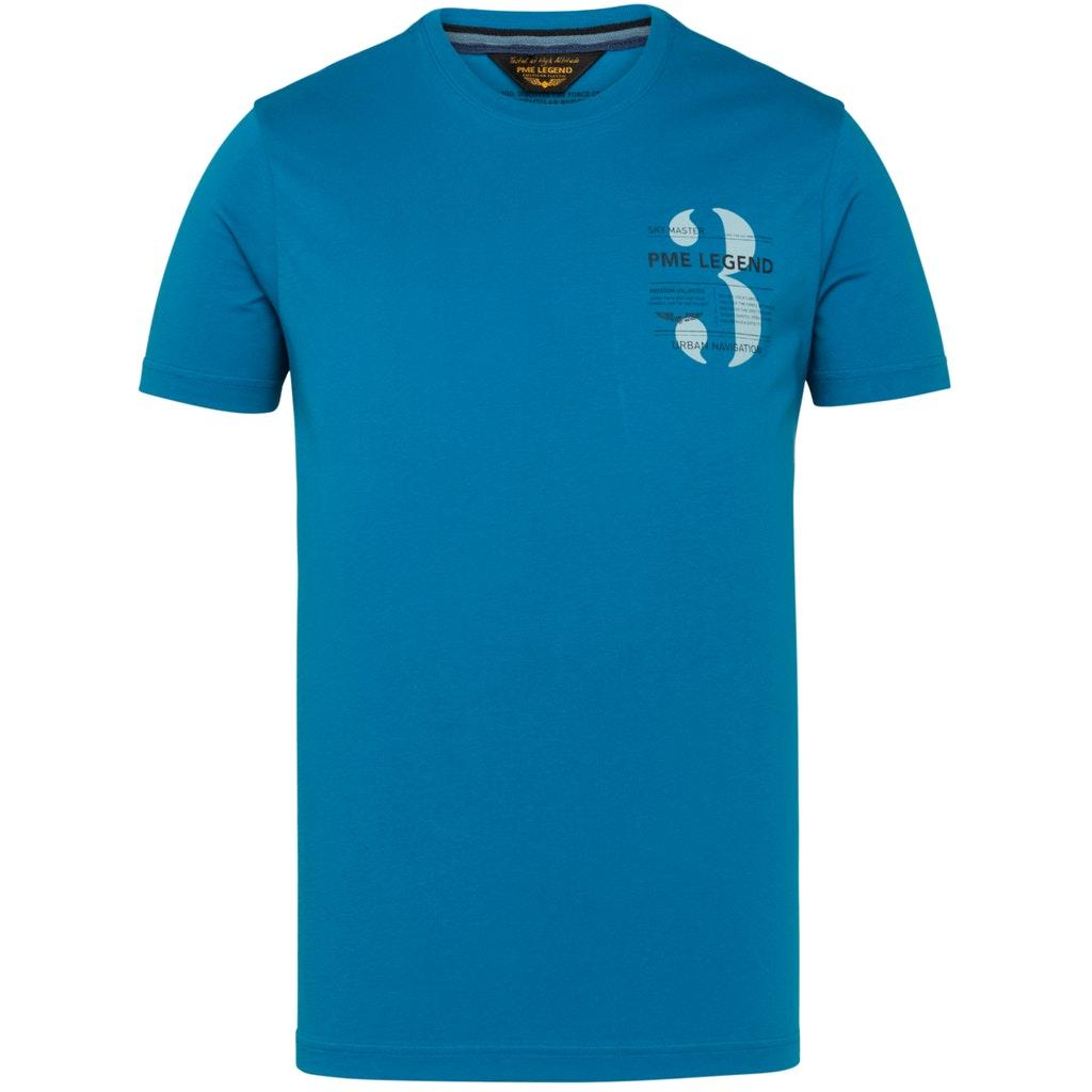 Rundhals T-Shirt mit Logo