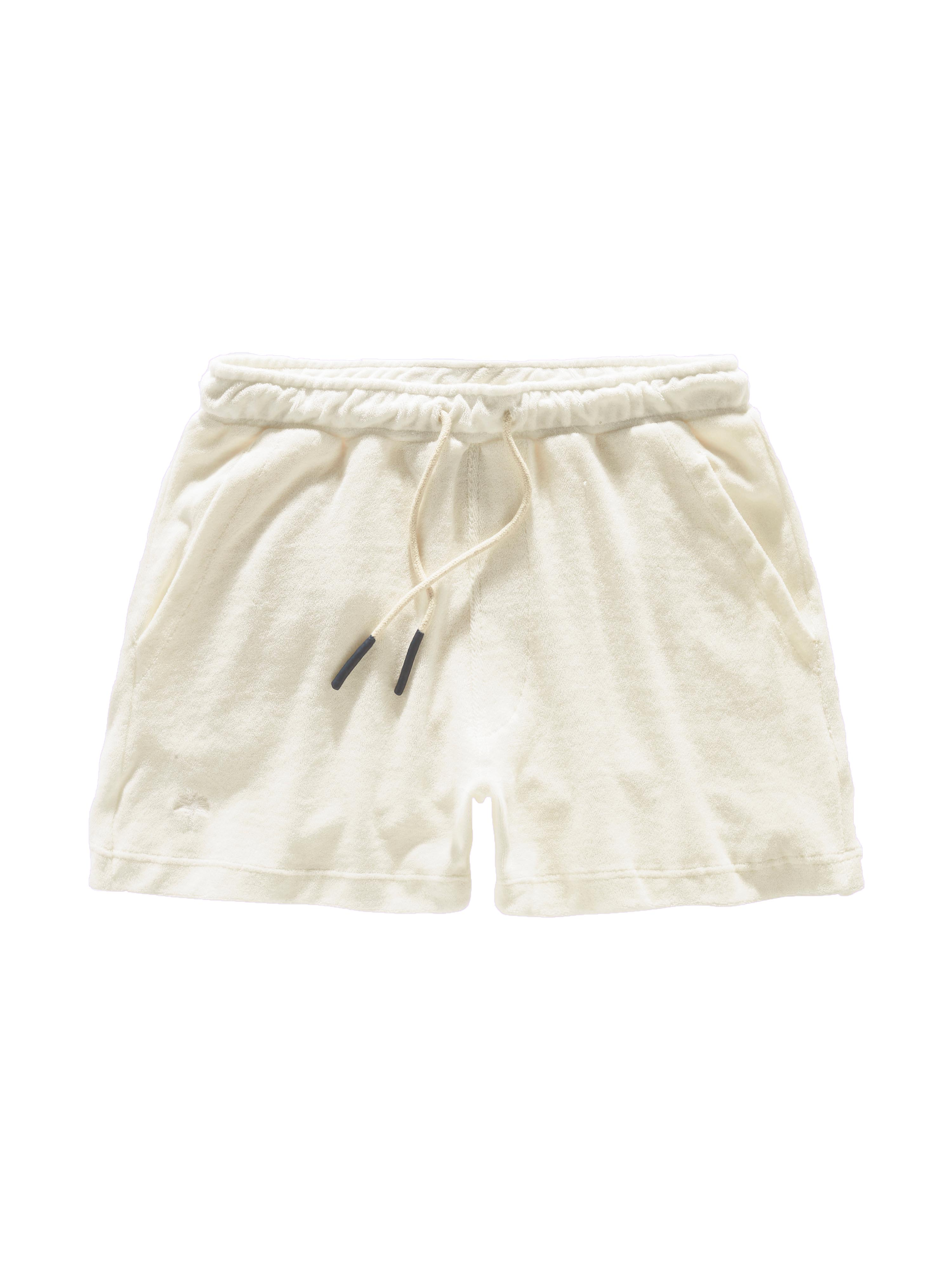 White Terry Shorts