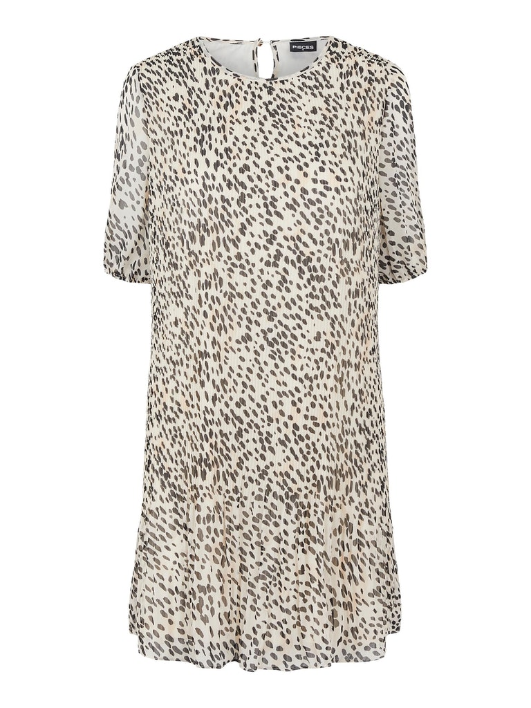 Plisse Kleid mit Leo Print