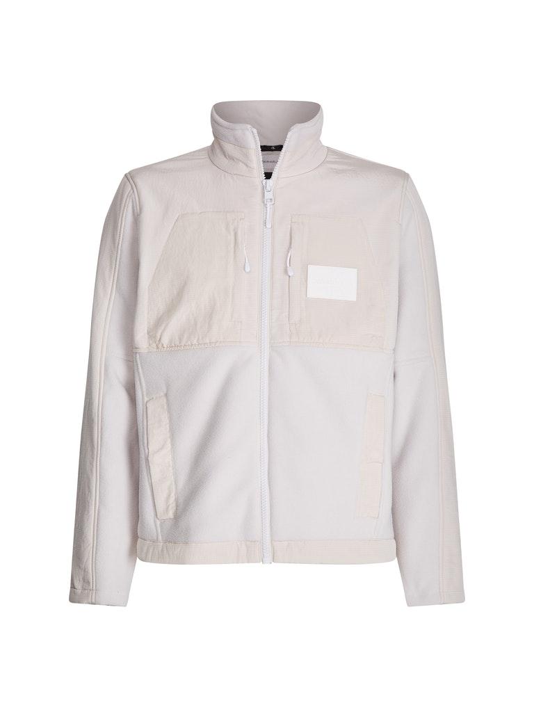 Fleece Mixed Fabric Zip Through